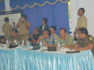 Muspida Kab Bangkalan hadir dalam penghtiungan suara di PKPRI Kota Bangkalan